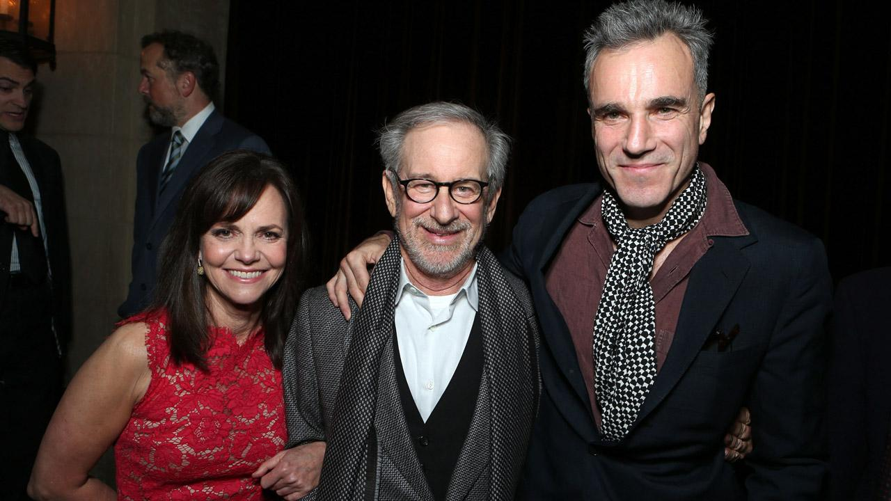 Sally Field, Steven Spielberg and Daniel Day-Lewis attend the premiere of Lincoln at Graumans Chinese Theatre in Hollywood on Nov. 8, 2012.