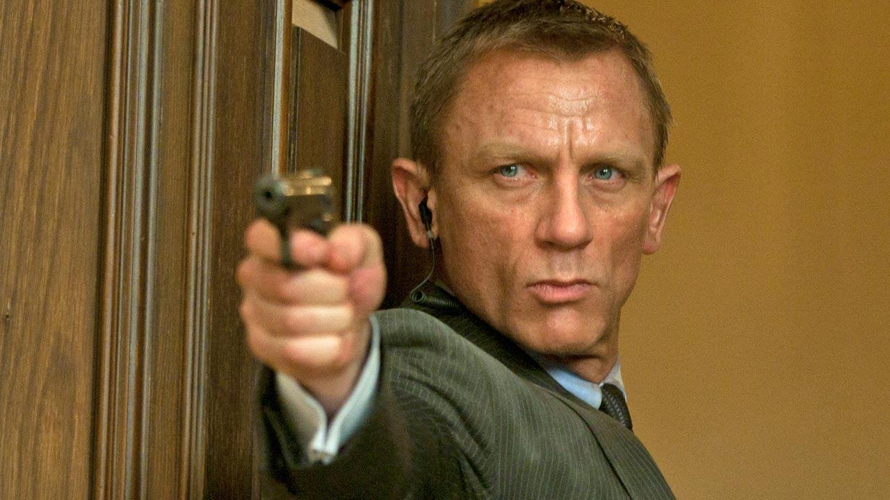 Daniel Craig appears as James Bond in the 2012 film Skyfall.