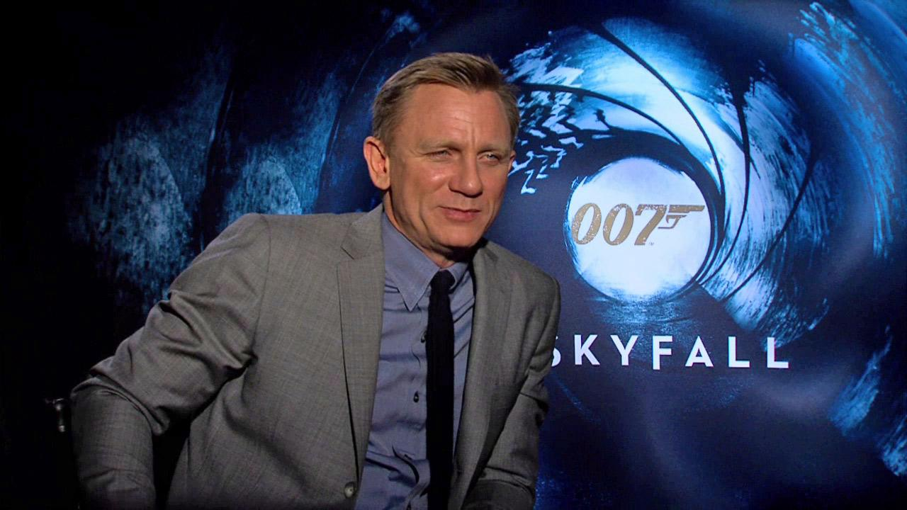 Daniel Craig appears in a an interview for his 2012 Bond film Skyfall.