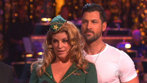 Actress Kirstie Alley and her partner Maksim Chmerkovskiy received 27 out of 30 points from the judges for their Viennese Waltz on 'Dancing With The Stars: All-Stars,' which aired on November 12, 2012.