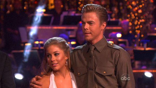 Shawn Johnson and Mark Ballas appear in a still from 'Dancing With The Stars: All-Stars' on November 12, 2012.