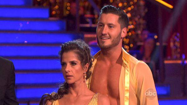 Kelly Monaco and Valentin Chmerkovskiy appear in a still from 'Dancing With The Stars: All-Stars' on November 12, 2012.