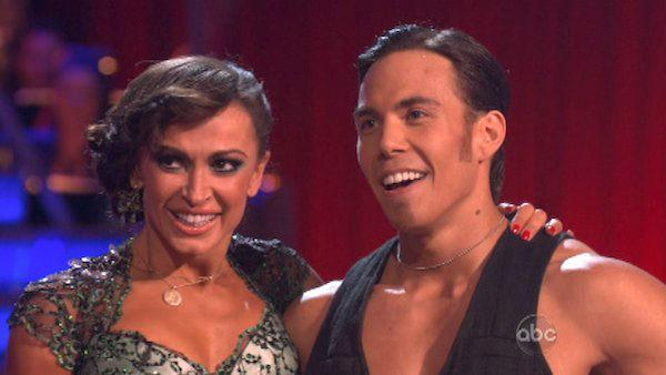 Apolo Anton Ohno and Karina Smirnoff appear in a still from 'Dancing With The Stars: All-Stars' on November 12, 2012.