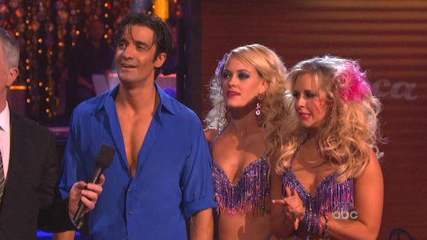 Gilles Marini and Peta Murgatroyd appear in a still from 'Dancing With The Stars: All-Stars' on November 12, 2012.