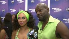 Emmitt Smith and Cheryl Burke talk to OTRC.com after the November 12, 2012 episode of Dancing With The Stars. - Provided courtesy of OTRC
