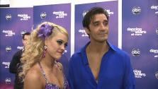 Gilles Marini and Peta Murgatroyd talk to OTRC.com after the November 12, 2012 episode of Dancing With The Stars. - Provided courtesy of ABC