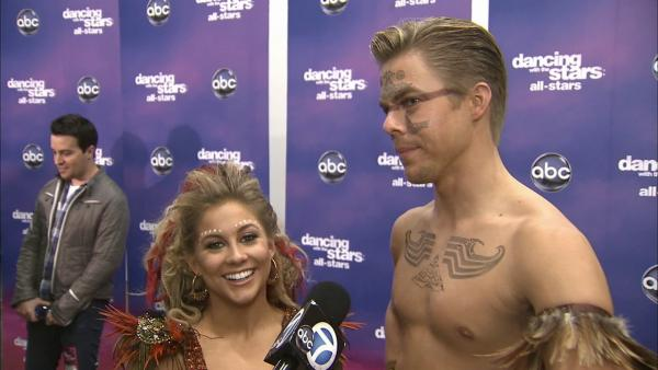 Shawn Johnson and Derek Hough talk 'DWTS' week 8