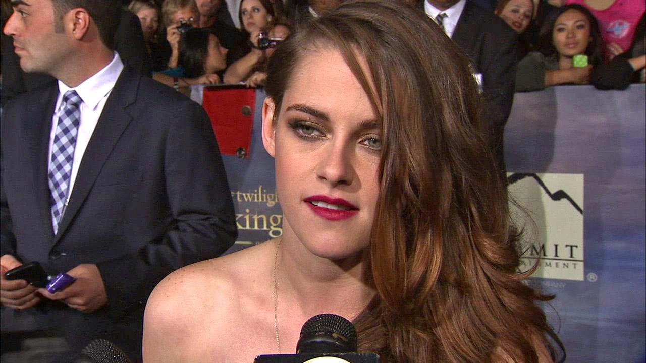 Kristen Stewart talks to OTRC.com at the premiere of Twilight: Breaking Dawn - Part 2 at the Nokia Theatre L.A. Live in Los Angeles on Nov. 12, 2012.