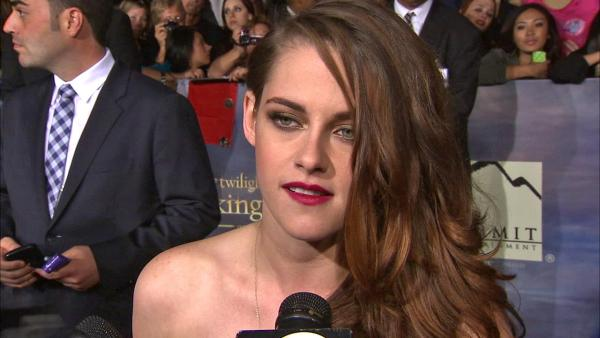 Kristen Stewart talks to OTRC.com at the premiere of Twilight: Breaking Dawn - Part 2 at the Nokia Theatre L.A. Live in Los Angeles on Nov. 12, 2012. - Provided courtesy of OTRC