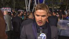 Kellan Lutz talks to OTRC.com at the premiere of Twilight: Breaking Dawn - Part 2 at the Nokia Theatre L.A. Live in Los Angeles on Nov. 12, 2012. - Provided courtesy of OTRC