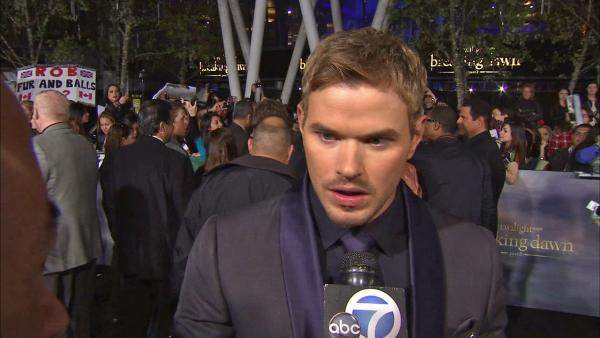 Kellan Lutz at 'Breaking Dawn 2' premiere, talks journey