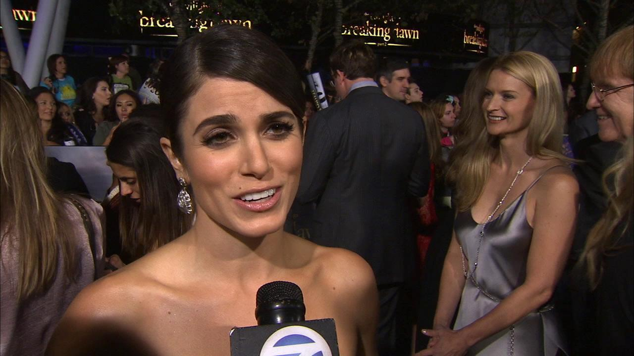 Nikki Reed talks to OTRC.com at the premiere of Twilight: Breaking Dawn - Part 2 at the Nokia Theatre L.A. Live in Los Angeles on Nov. 12, 2012.