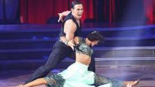 Apolo Anton Ohno and Karina Smirnoff appear in a still from Dancing With The Stars: All-Stars on November 12, 2012. - Provided courtesy of ABC / OTRC
