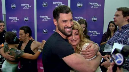 Kirstie Alley and Maksim Chmerkovskiy talk to OTRC.com after the Nov. 13, 2012 episode of Dancing With The Stars.