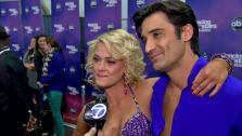 Gilles Marini and Peta Murgatroyd talk to OTRC.com after the Nov. 13, 2012 episode of Dancing With The Stars. - Provided courtesy of ABC