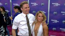 Shawn Johnson and Derek Hough talk to OTRC.com after the Nov. 13, 2012 episode of Dancing With The Stars. - Provided courtesy of ABC