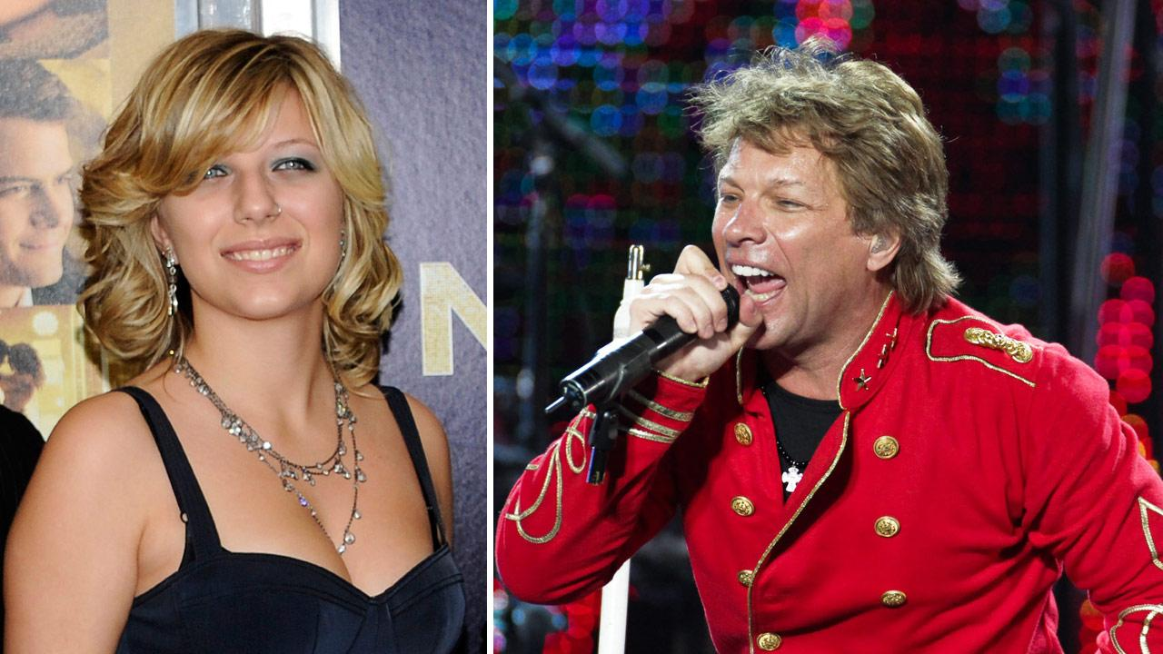 Stephanie Bongiovi, daughter of rocker Jon Bon Jovi, attends the premiere of New Years Eve at Ziegfeld Theatre in New York on Dec. 7, 2011. / Jon Bon Jovi performs live on stage during Bon Jovis Open Air Tour show in Barcelona, Spain on July 27, 2011.