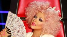 Christina Aguilera appears on the NBC show The Voice on Nov. 13, 2012. - Provided courtesy of Tyler Golden / NBC