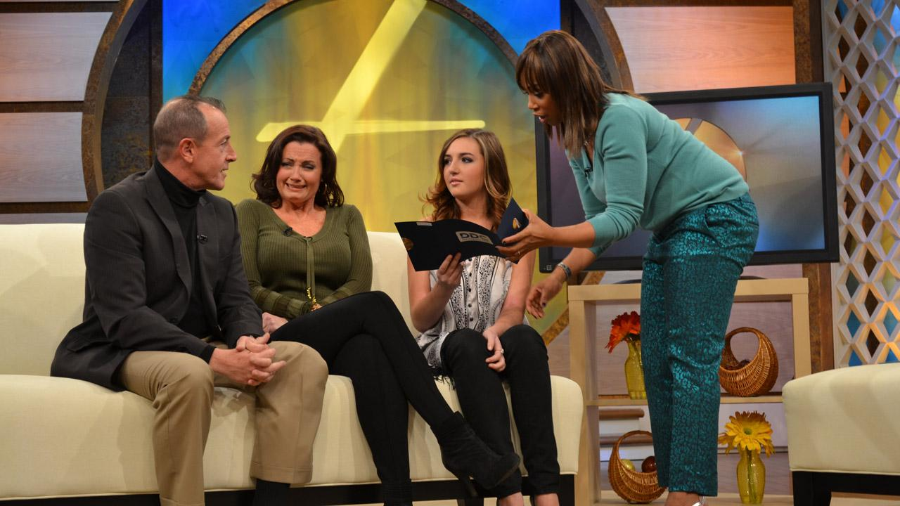 Michael Lohan, Lindsay Lohans father, reacts on Trisha Goddards show reacts to DNA paternity test results on an episode that aired on NBC on Nov. 15, 2012.