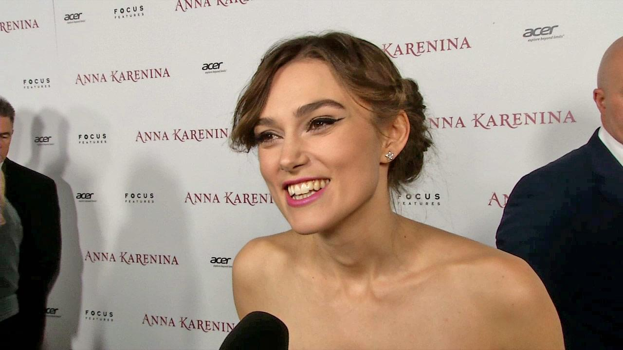 Keira Knightley appears at the premiere of Anna Karenina in Los Angeles on November 14, 2012.