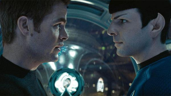 Chris Pine and Zachary Quinto appear in a scene from the 2009 movie Star Trek. - Provided courtesy of Paramount Pictures
