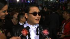 Psy talks to OTRC.com at the 40th annual American Music Awards on November 18, 2012. - Provided courtesy of none / OTRC