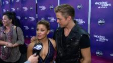 Mark Ballas, Shawn Johnson and Derek Hough talk to OTRC.com after the November 19, 2012 episode of Dancing With The Stars. - Provided courtesy of OTRC