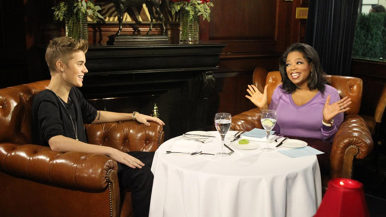 Justin Bieber talks to Oprah Winfrey in an interview for her OWN show Oprahs Next Chapter. (Air date: Nov. 25, 2012.)