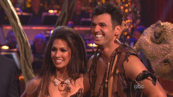 Melissa Rycroft and Tony Dovolani appear in a still from 'Dancing With The Stars: All-Stars' on November 19, 2012.