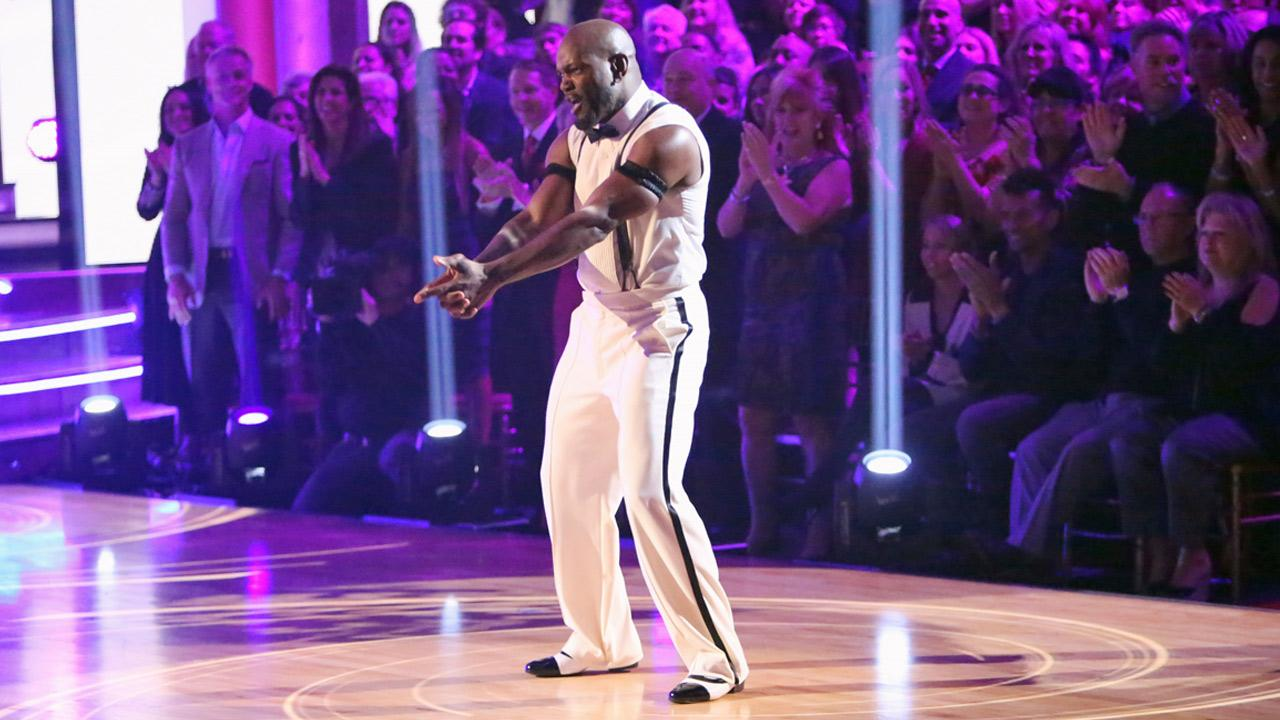 Retired NFL star Emmitt Smith and his partner Cheryl Burke received 27 out of 30 points from the judges for their Espionage Lindy Hop on Dancing With The Stars: All-Stars on Monday, Nov. 19, 2012.Adam Taylor