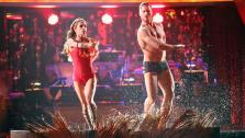General Hospital actress Kelly Monaco and her partner Valentin Chmerkovskiy received 25.5 out of 30 points from the judges for their Surfer Flamenco on Dancing With The Stars: All-Stars on Monday, Nov. 19, 2012. - Provided courtesy of ABC / Adam Taylor