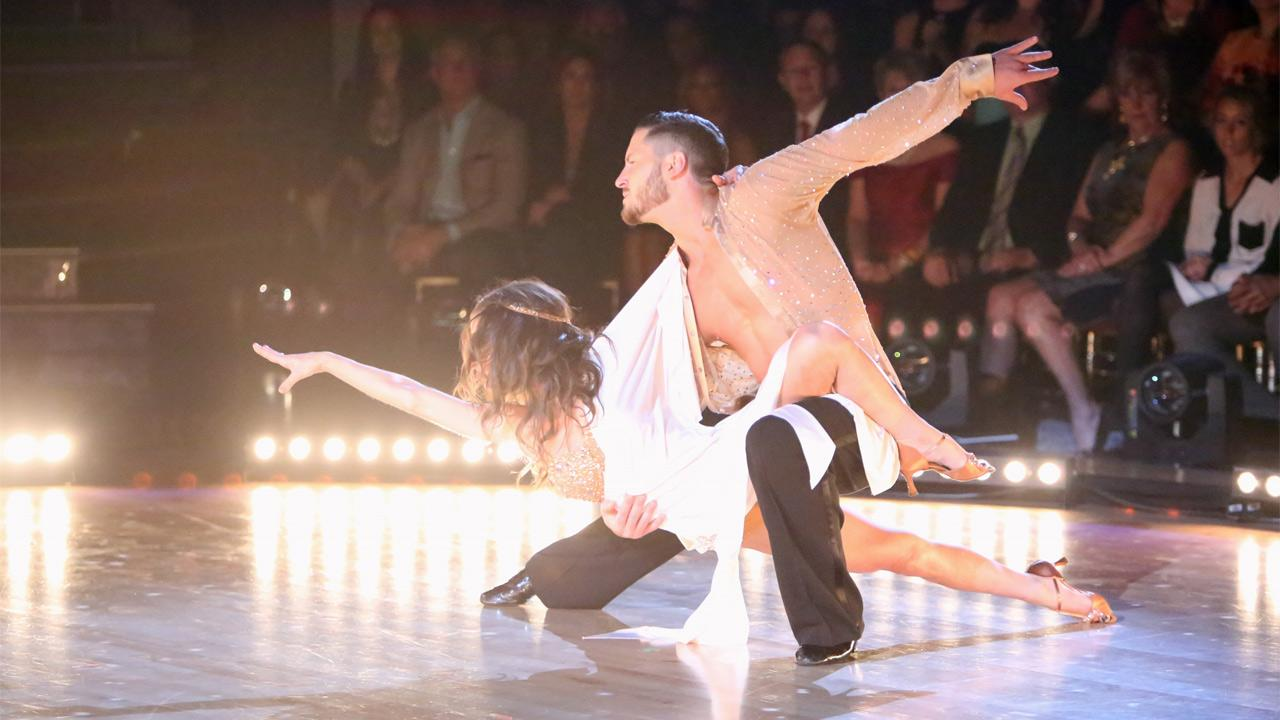 General Hospital actress Kelly Monaco and her partner Valentin Chmerkovskiy received 28.5 out of 30 points from the judges for their Rumba on Dancing With The Stars: All-Stars on Monday, Nov. 19, 2012. <span class=meta>(Adam Taylor)</span>