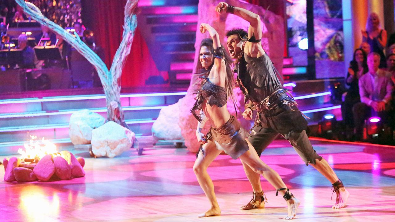 Reality star Melissa Rycroft and her partner Tony Dovolani received 27.5 out of 30 points from the judges for their Caveman Hustle on Dancing With The Stars: All-Stars on Monday, Nov. 19, 2012.Adam Taylor