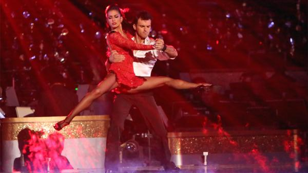 Reality star Melissa Rycroft and her partner Tony Dovolani received 30 out of 30 points from the judges for their Argentine Tango on 'Dancing With The Stars: All-Stars' on Monday, Nov. 19, 2012.