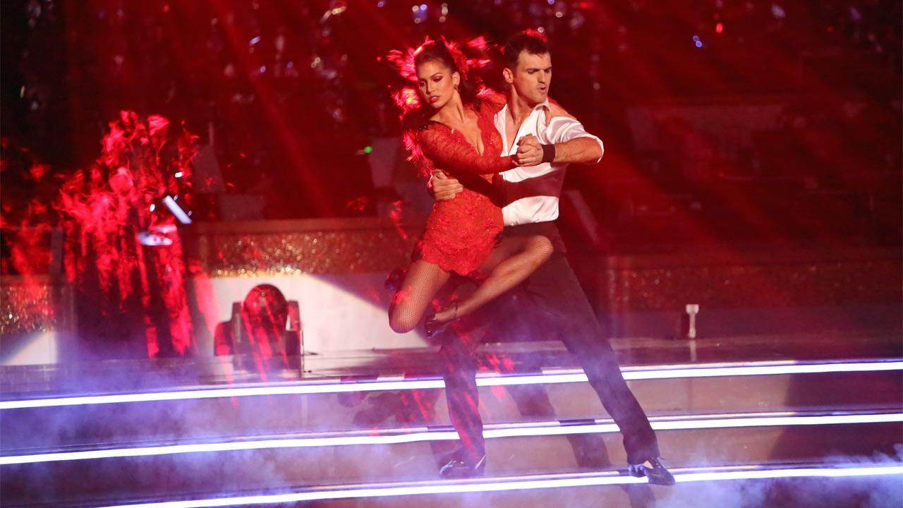 Reality star Melissa Rycroft and her partner Tony Dovolani received 30 out of 30 points from the judges for their Argentine Tango on Dancing With The Stars: All-Stars on Monday, Nov. 19, 2012.Adam Taylor