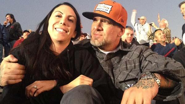 Jesse James appears in a photo with Alexis DeJoria posted on his official Twitter account on November 11, 2012. - Provided courtesy of https://twitter.com/FreeJesseJames/status/267800650199465984