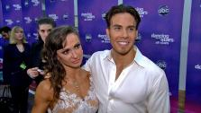 Apolo Anton Ohno and Karina Smirnoff talk to OTRC.com after the Nov. 20, 2012 episode of Dancing With The Stars. - Provided courtesy of ABC