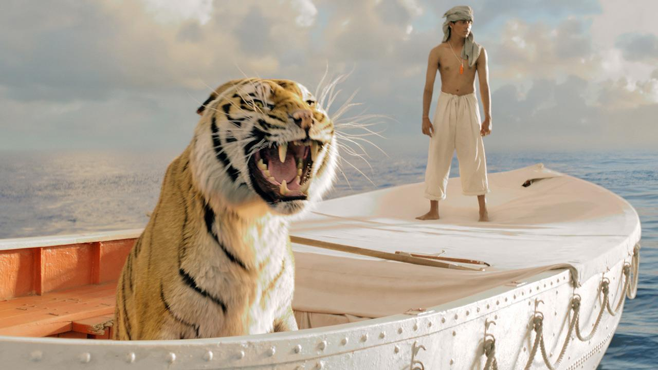 A scene from the 2012 film, Life of Pi.