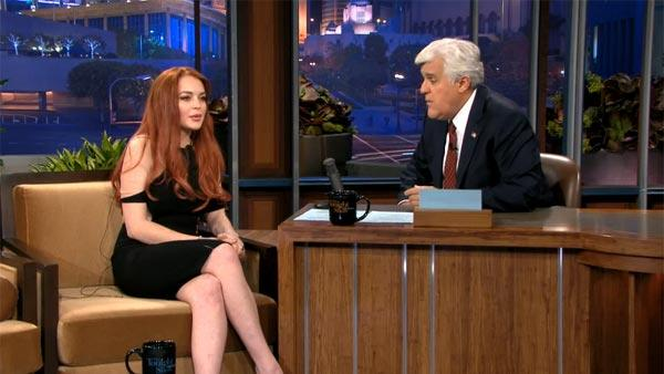 Lindsay Lohan talks to Jay Leno on NBCs Tonight Show on Nov. 20, 2012. - Provided courtesy of NBC