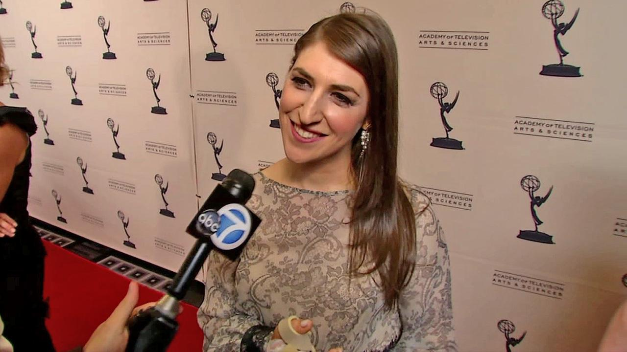 Mayim Bialik talks to OTRC at a cocktail reception party for the upcoming 64th Primetime Emmy Awards on August 20, 2012.