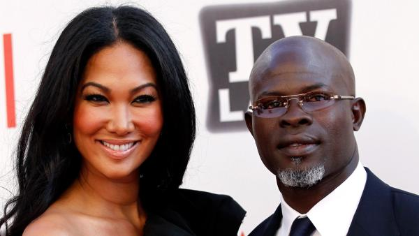 imora Lee Simmons, Djimon Hounsou arrives at the taping of 'TV Land Presents: AFI Life Achievement Award Honoring Morgan Freeman' in Culver City, California in June 2011.