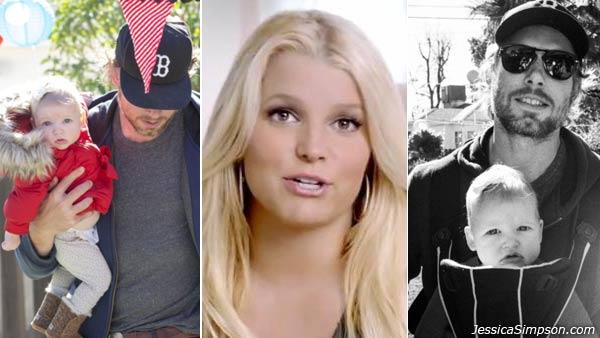 Jessica Simpson appears in an ad for Weight Watchers which was filmed in September 2012. / Eric Johnson and Maxwell Drew appear in photos posted on Simpsons website on November 22, 2012. - Provided courtesy of Weight Watchers / JessicaSimpson.com
