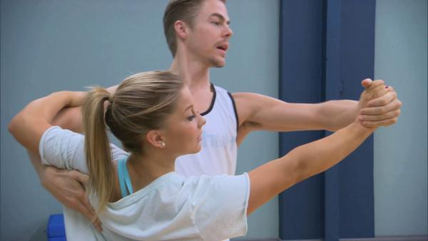 Shawn and Derek give a peek at their routine