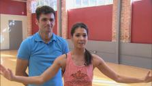 Melissa Rycroft and Tony Dovolani talk to ABC in November 2012 for Dancing With The Stars. - Provided courtesy of ABC