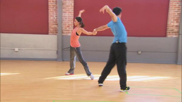 Melissa and Tony give a peek at their routine