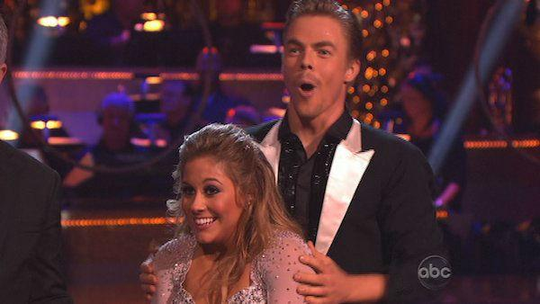 Shawn Johnson and Mark Ballas appear in a still from 'Dancing With The Stars: All-Stars' on November 26, 2012.