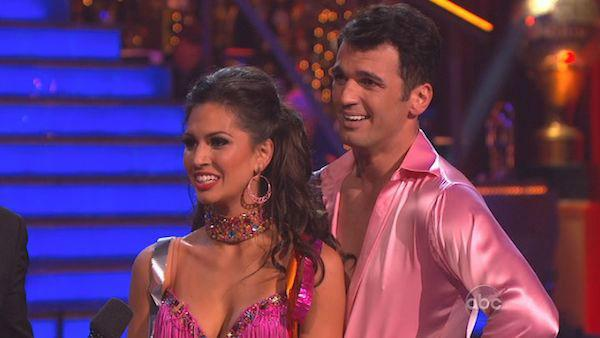 Melissa Rycroft and Tony Dovolani appear in a still from 'Dancing With The Stars: All-Stars' on November 26, 2012.