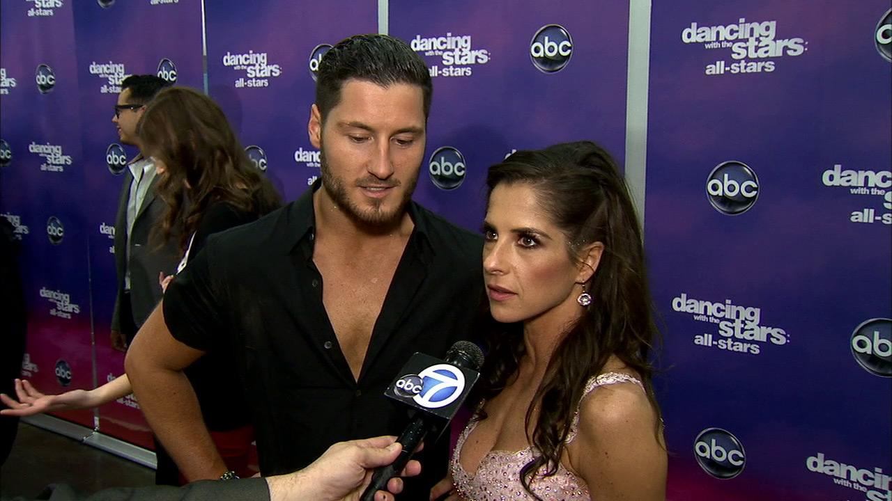 Kelly Monaco and Valentin Chmerkovskiy talk to OTRC.com after the November 26, 2012 episode of Dancing With The Stars.