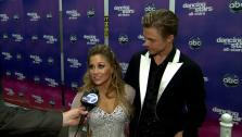 Shawn Johnson and Derek Hough talk to OTRC.com after the November 26, 2012 episode of Dancing With The Stars. - Provided courtesy of OTRC