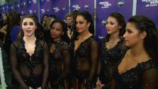 Olympians Gabby Douglas, McKayla Maroney, Aly Raisman, Kyla Ross, and Jordyn Wieber talk to OTRC.com after the November 26, 2012 episode of Dancing With The Stars. - Provided courtesy of OTRC